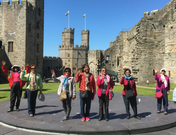 On tour with Boutique Tours at Caernarfon Castle, one of the greatest castles in Wales