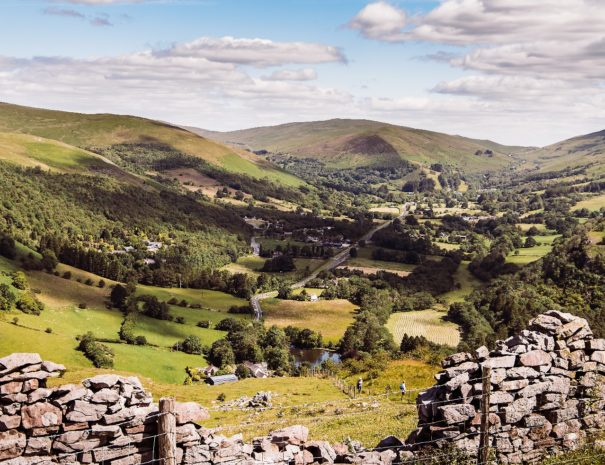 The scenic Brecon Beacons National Park