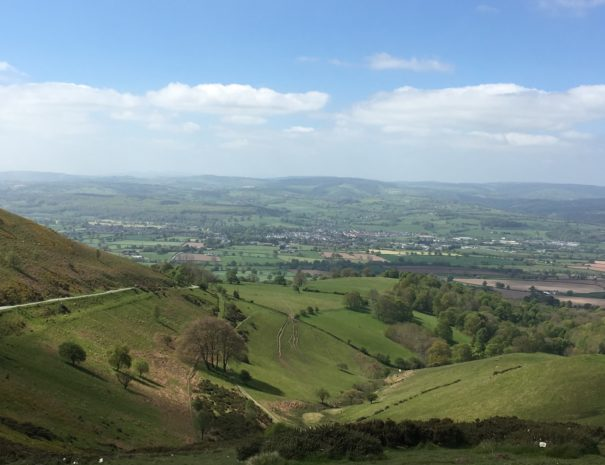 The scenic Vale of Clwyd from Offa's Dyke