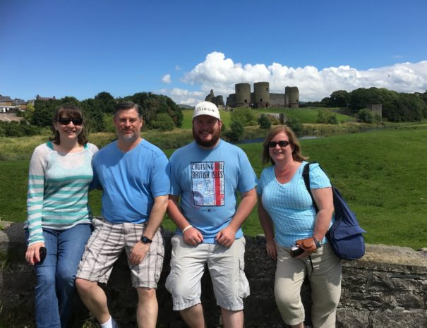 On tour with Boutique Tours of Wales at Rhuddlan Castle - historic Wales