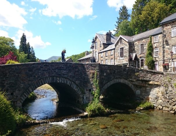The beautiful riverside setting of Beddgelert in the Snowdonia National Park