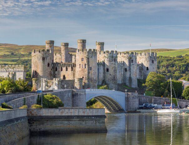 The 13th century medieval Unesco Conwy Castle