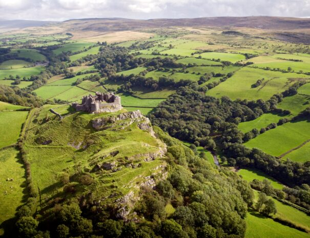 Day 3: The stunning remote setting of Carreg Cennen Castle in the Brecon Beacon National Park