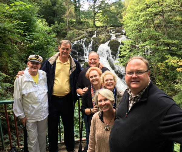 On tour at Swallow Falls with Boutique Tours of Wales
