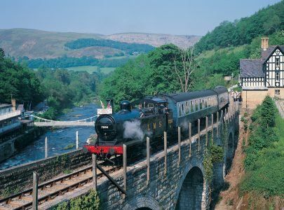 Llangollen Steam Railway in North Wales