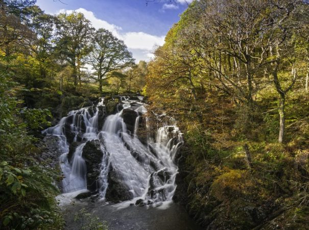 Aber Falls near Betws Y Coed in North Wales