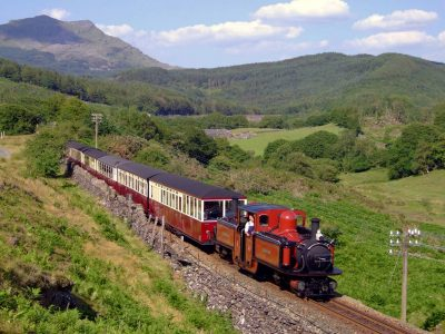 Enjoy a ride through Snowdonia aboard a steam train