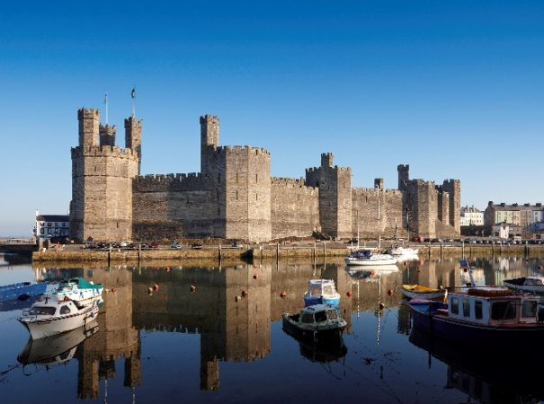 UNESCO Caernarfon Castle in North Wales