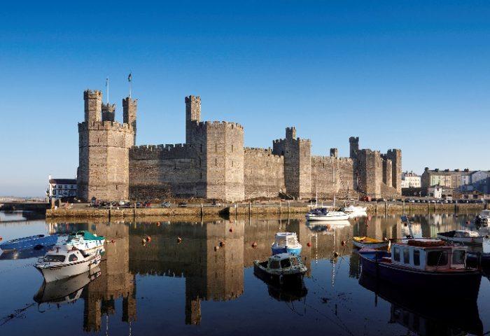 UNESCO Caernarfon Castle in North Wales